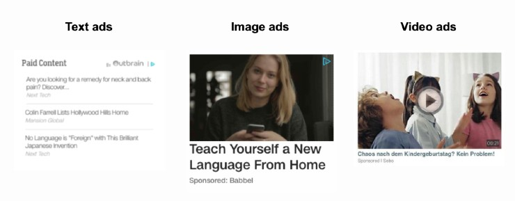 Outbrain ads formats