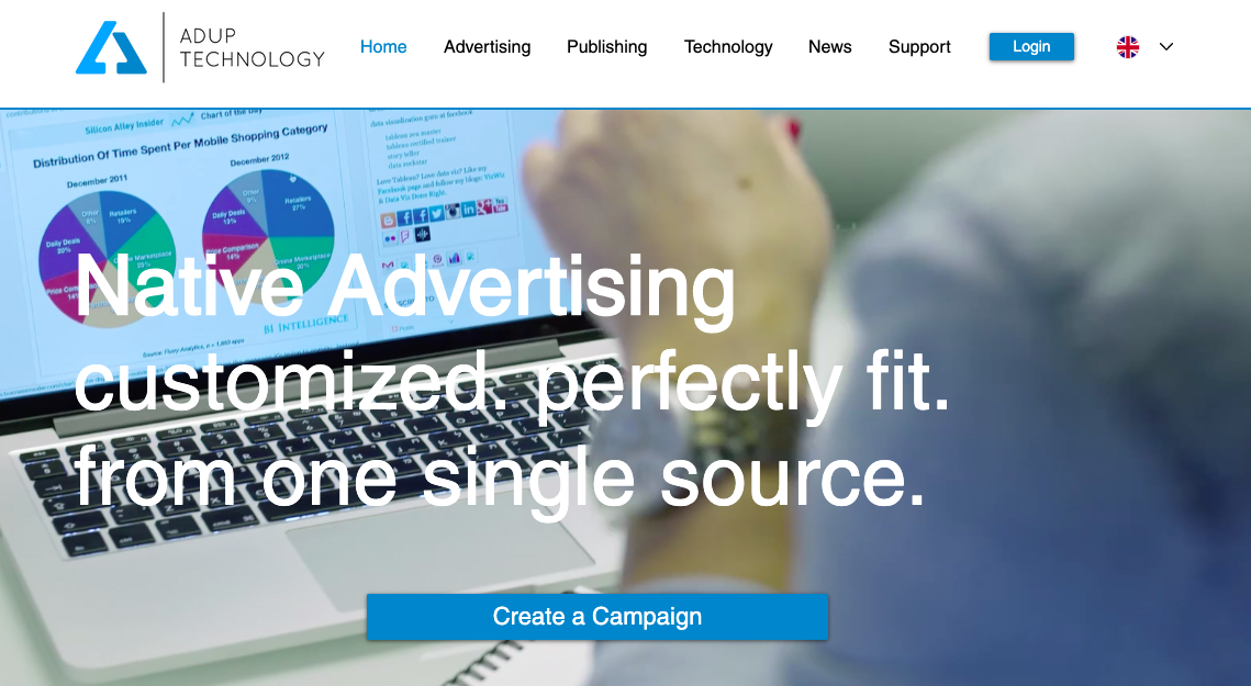 Native advertising with AdUp