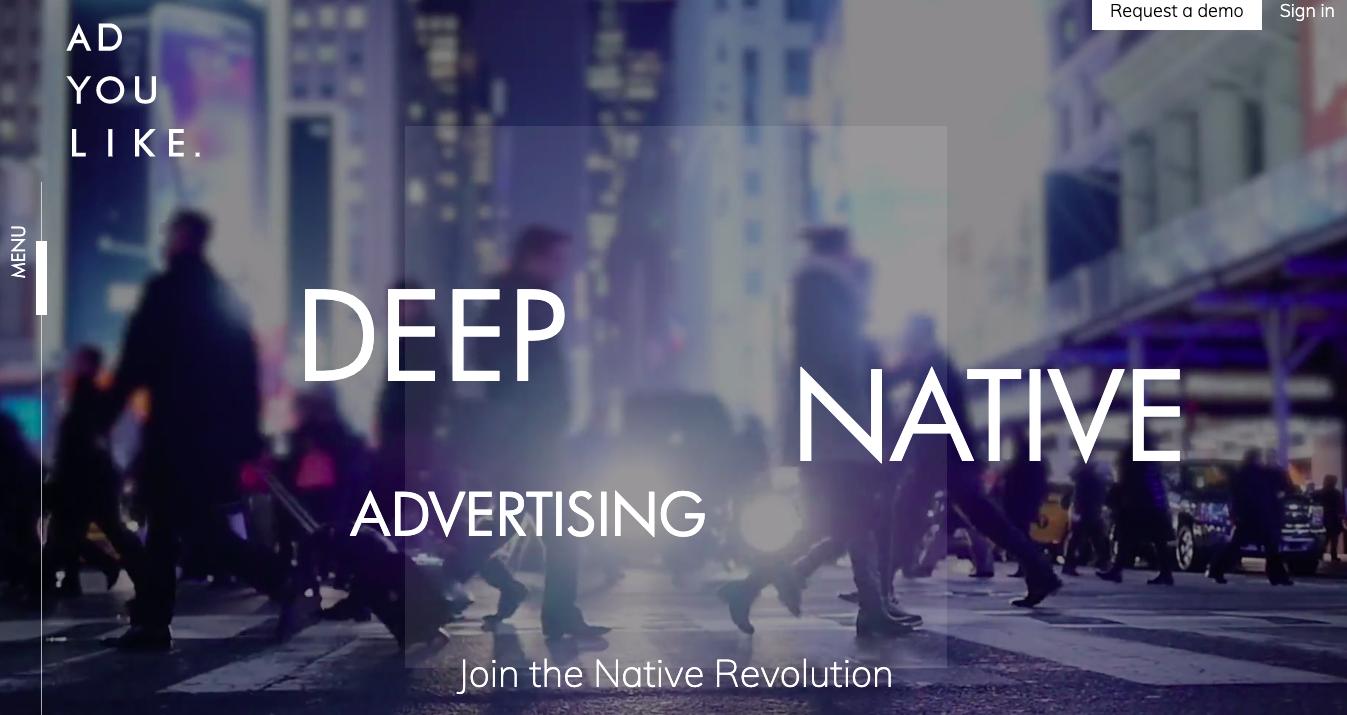 Native advertising with ADYOULIKE