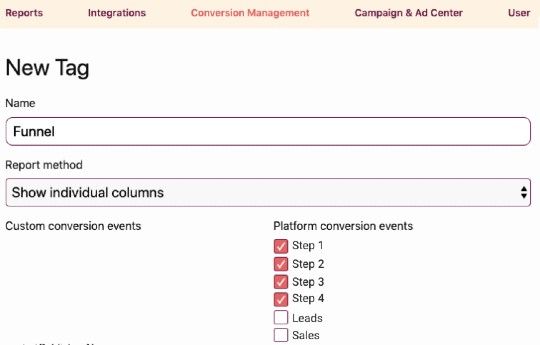 Conversion funnel report template