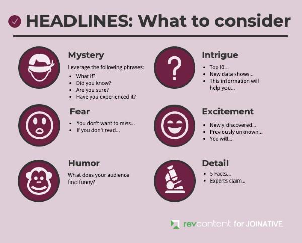 Headlines best practices
