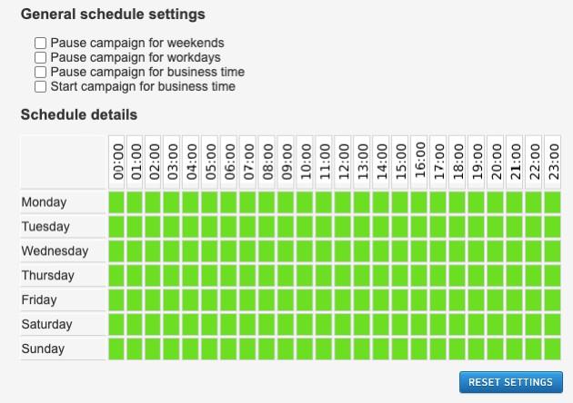 MGID campaign schedule