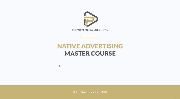 Native advertising course on Udemy