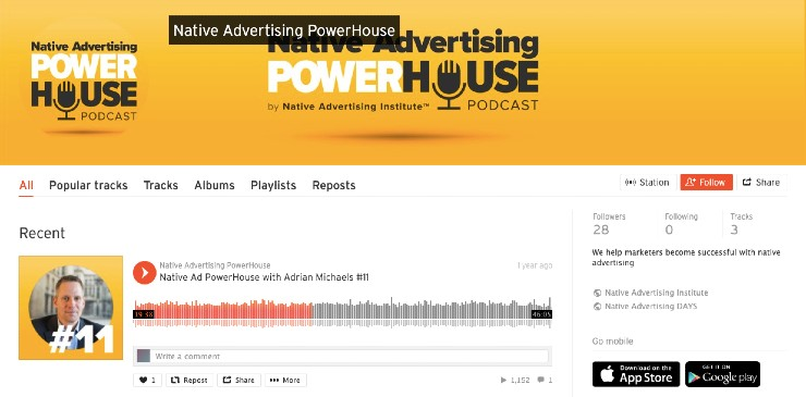 Native advertising podcast