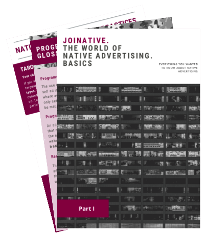 Joinative's native advertising e-book cover