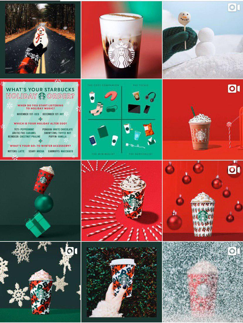 Starbucks Instagram feed