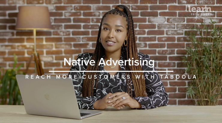 Native advertising course on Fiverr
