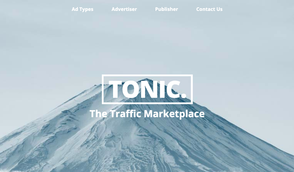 Native advertising with TONIC.