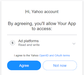 Yahoo API Oauth Authentication approval